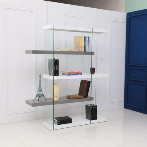 Il Vetro High Gloss Bookcase CB-111-WG-BKS from Casabianca