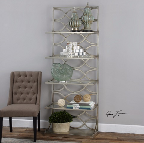 Lashaya Silver Etagere 24622 from Uttermost