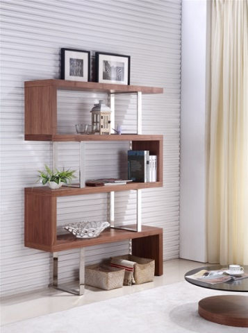 Scala Walnut Bookcase TC-0074-WAL by CasaBianca