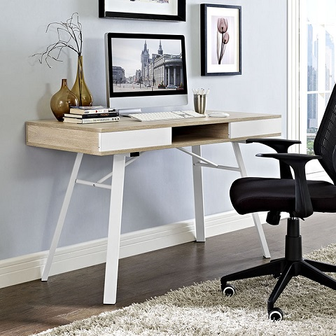 Stir Office Desk In Oak EEI-1322-OAK from Modway Furniture