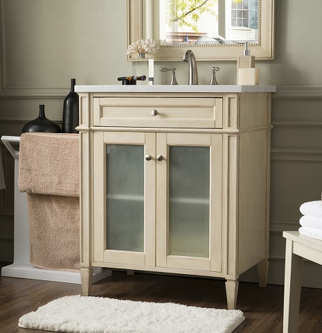 "30"" Single Bathroom Vanity in Vintage Vanilla, 655-V30G-VV-AF"