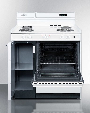 "36"" Deluxe Electric Range With Storage Compartment WEM430KW from Summit"