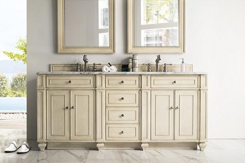"Bristol 72"" Double Bathroom Vanity in Vintage Vanilla 157-V72-VV"