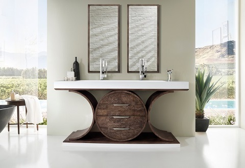 "Oasis 72"" Double Bathroom Vanity 378-V72D-OAE from James Martin Furniture"