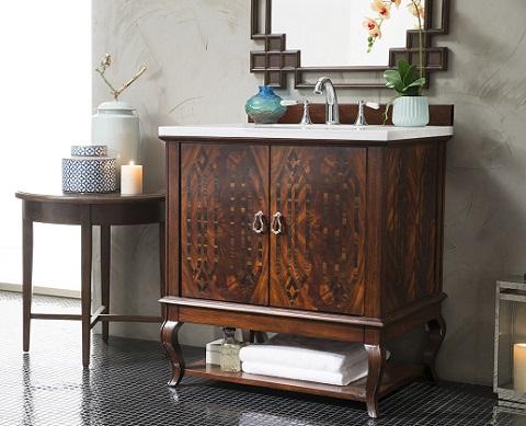 """Palm Beach 31"""" Single Bathroom Vanity 420-V31-DKA-AF from James Martin Furniture"""