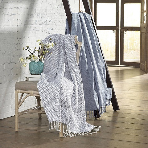 Picasso Blue Cotton Throw 2-Pack 5CTNTRPC-BLU-ST from Amrapur