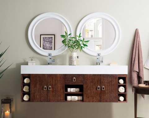 "Tiburon 59"" Double Bathroom Vanity in Coffee Oak 868-V59D-CFO-A from James Martin Furniture"