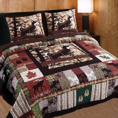 Whitetail Lodge King Quilt Set GL-1408DMSK from Greenland Home