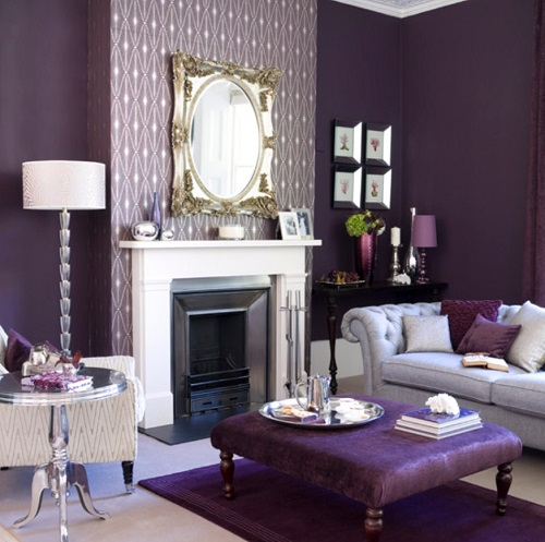 An all-purple room certainly isn't for the faint of heart, but the result can be incredibly striking