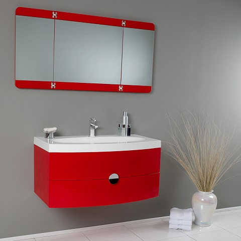"Energia 36"" Red Modern Bathroom Vanity FV5092RD from Fresca"