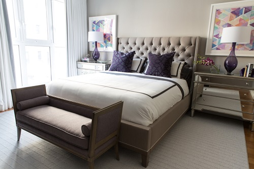 A rich, dark purple like Ultra Violet often works best as an accent rather than a base color, adding a little bit of brightness to your decor (by Libby Langdon Interiors, Inc.)