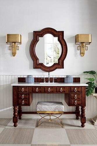 "Castilian 60"" ADA Bathroom Vanity in Aged Cognac 161- V60S-ACG from James Martin Furniture"