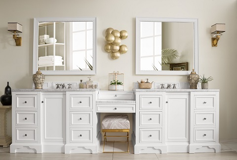 bathroom vanity with makeup table intended de soto 118 hot new trend for 2018 bathroom vanities with builtin makeup tables