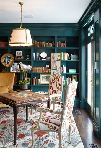 Teal is a very bold color, but it holds up well to red and orange, if you're looking to mix and match your color trends (by JBMP Architecture and Interior Design)