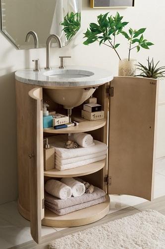 "Canberra 24.5"" Single Bathroom Vanity in Empire Linen 288-V24.5-EL from James Martin Furniture"