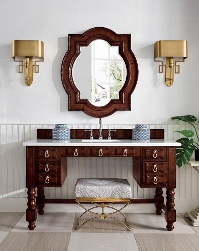 "Castilian 60"" Single Bathroom Vanity in Aged Cognac 161-V60S-ACG from James Martin Furniture"