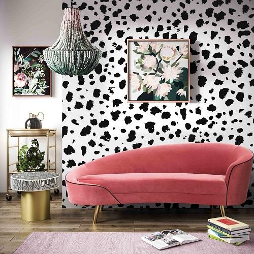 Cleopatra Hot Pink Velvet Sofa TOV-L6428 from TOV Furniture