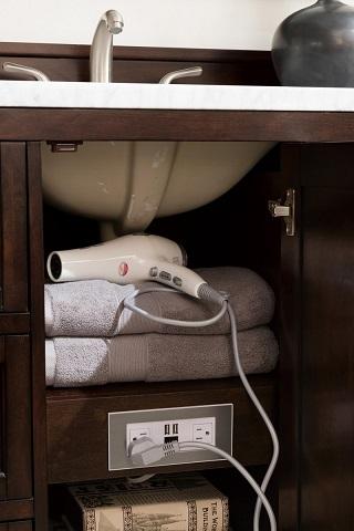 "Copper Cove Encore 48"" Single Bathroom in Burnished Mahogany 301-V48-BNM from James Martin Furniture"