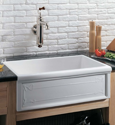 Luberon Art Nouveau Fireclay Farmhouse Sink 4614 from Herbeau