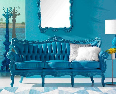 Modern Victorian Tufted Sofa 619-A from PolArt