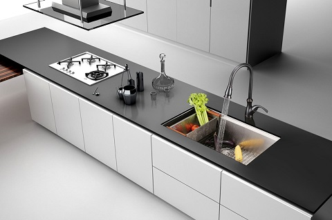 "Roma 32"" Single Bowl Kitchen Sink RVH8300 from Ruvati"