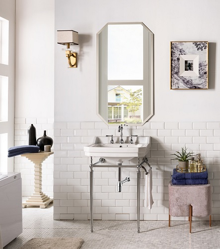 """Wellington 24"""" Single Console SInk With Chrome Finis 318-CHR-CRM from James Martin Furniture"""