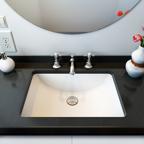 Fusion Undermount Ceramic Basin Sink UCB-017 from A&E