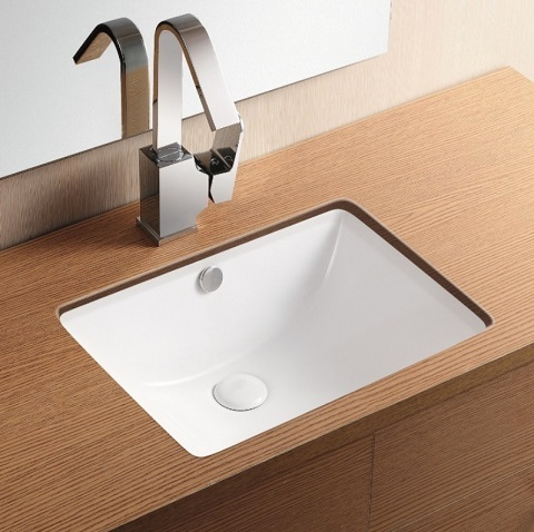 Rectangular Undermount Bathroom Sink CA4070 from Caracalla
