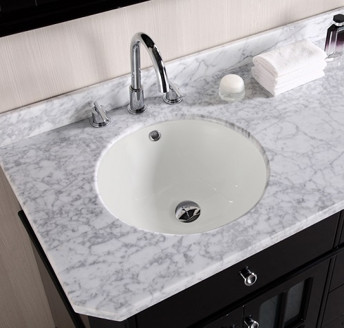 Round Undermount Sink in Biscuit AI-403 from American Imaginations