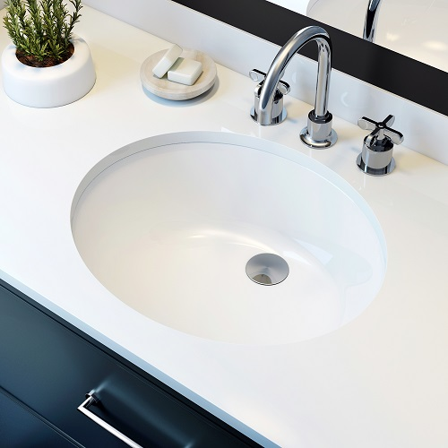 Sulu Undermount Ceramic Basin SInk UCB-007 from A&E