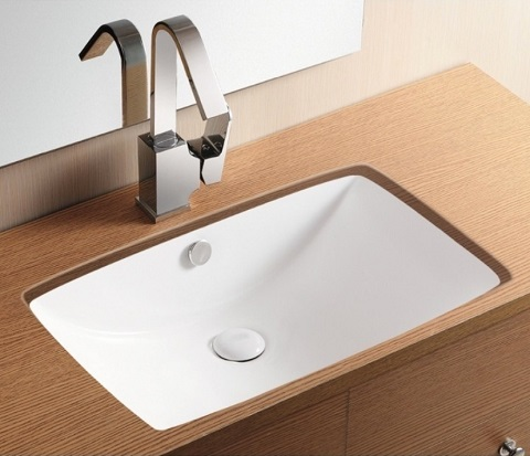Wide Rectangular Undermount Sink CA40236 from Caracalla