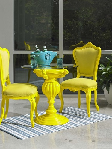 Bistro Table 184 for Outdoors With Glass Top from PolArt Designs
