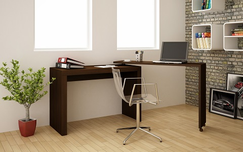 Calabria Nested Desk in Tobacco 33AMC49 from Manhattan Comfort