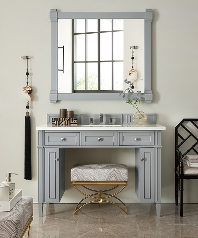 "Brittany 48"" Wheelchair Accessible Bathroom Vanity in Urban Gray 651-V48-UGR from James Martin Furniture"