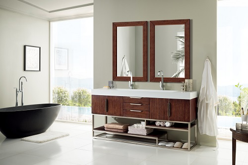 "Columbia 72"" Double Bathroom Vanity in Coffee Oak 388-V72-CFO-A from James Martin Furniture"