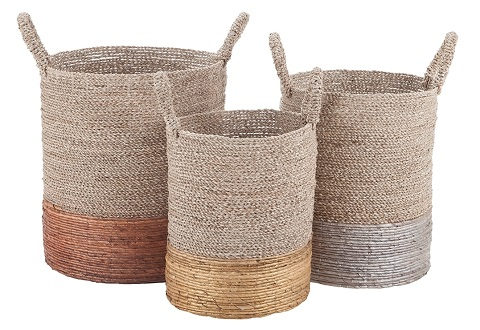 Mixed Metallics Nested Baskets 7011-001-S3 from Dimond Home
