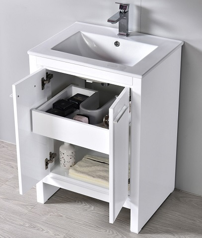 "Monaco 24"" Bathroom Vanity Set 000-24-01-M from Blossom"