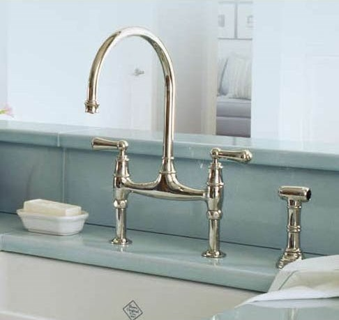 Perrin and Rowe Double Handle Bridge Kitchen Faucet U4718X from Rohl