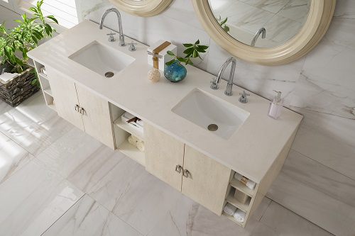 "Sonoma 72"" Double Batrhoom Vanity in Vanilla Oak 860-V72-VNO from James Martin"
