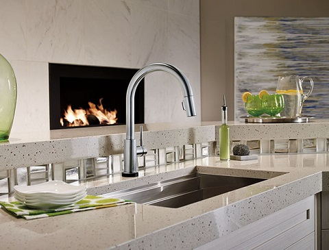 Arctic Stainless Steel Kitchen Faucet With Touch2O Technology 9159T-AR-DST from Soci