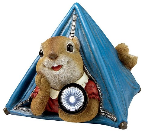 Backyard Camper Squirrel Solar Statue QM2811700 from Toscano