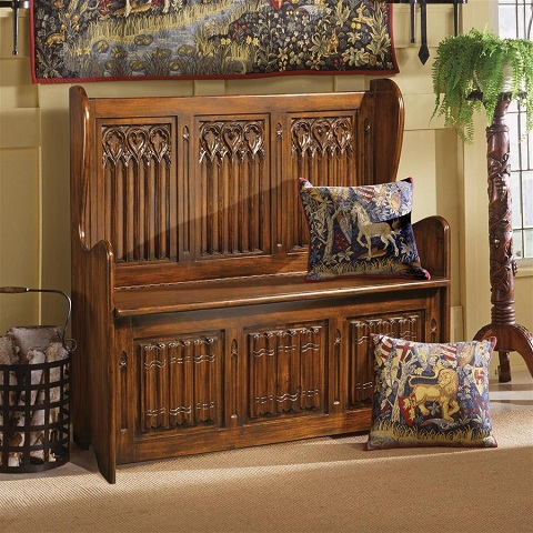 Kylemore Abbey Gothic Bench AF51311 from Toscano