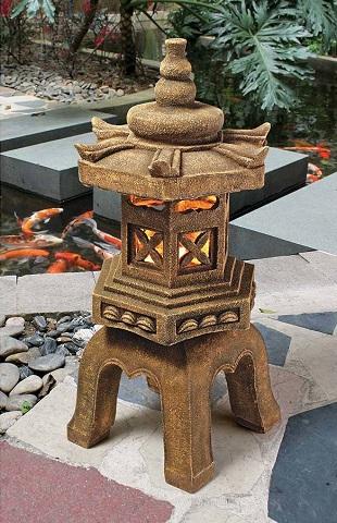 Sacred Pagoda Lantern Illuminated Statue SS8577 from Toscano