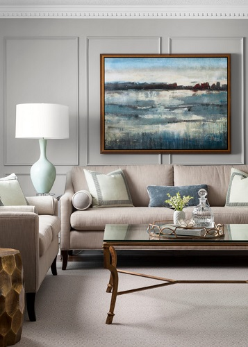 The right piece of art can bring a room together - or be the foundation you build your room around (by Catherine Alison Interiors)