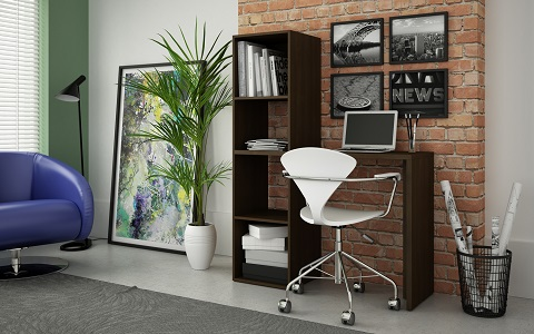 Campania Cubby Desk in Tobacco 92AMC49 from Manhattan Comfort