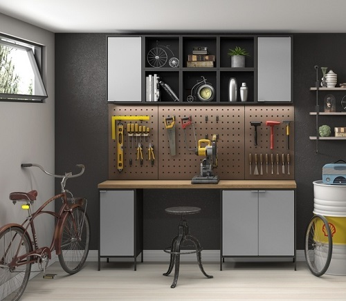Smart Cabinets in Black and Grey from Manhattan Comfort