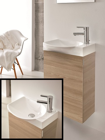 "Action 18"" Wall Mount Modern Bathroom Vanity EVVN17-18WN-Action from Eviva"