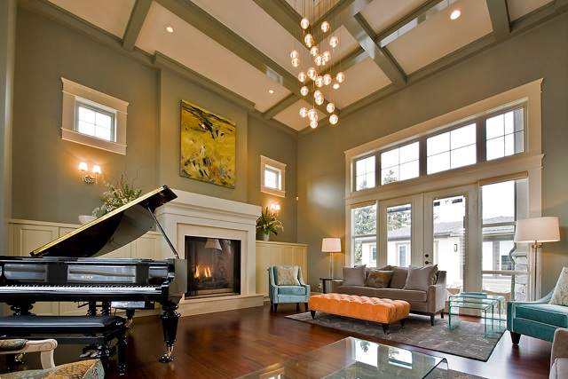 Having recessed lighting throughout your living space gives you the freedom to get creative with the style of your other lighting fixtures - without sacrificing lighting quality (by Begrand Fast Design Inc.)