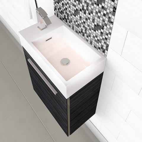 "Boutique 18"" Space Saver Bathroom Vanity FV EURO3 from Cutler Kitchen and Bath"
