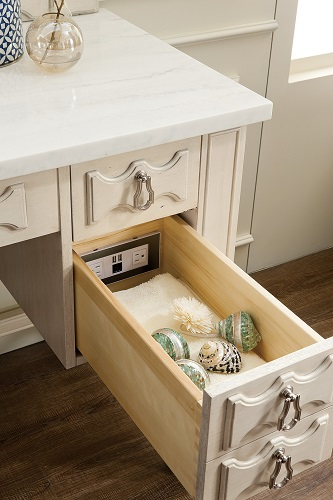 "Castilian 60"" Single Bathroom Vanity in Vintage Vanilla 161-V60S-VV-4CAR from James Martin Furniture"